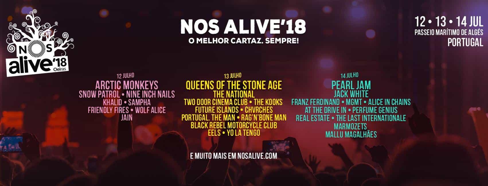 NOS Alive '18 Cartaz - Cifras.pt